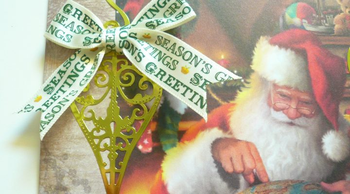 Christmas in July|Docrafts – Vintage Christmas cards tutorial