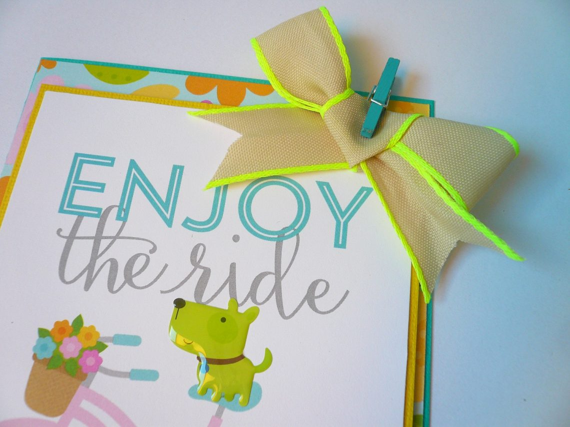 Enjoy the ride – card