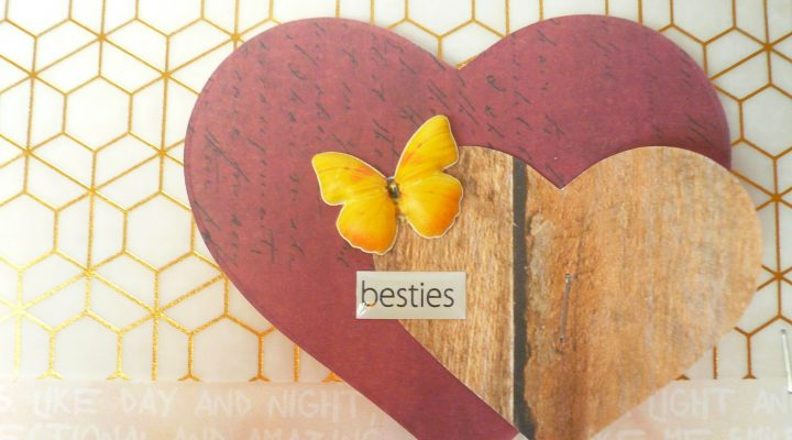 Card with DIY embellishment