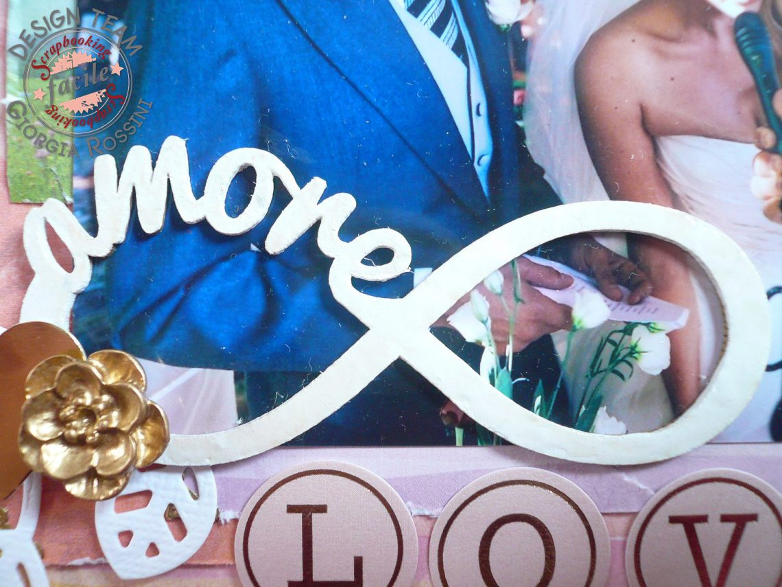 Scrapbooking Facile – layout wedding watercolor
