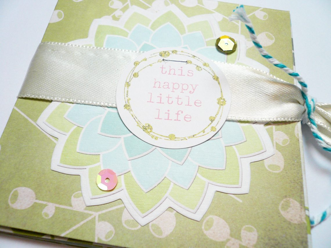 Mini album from a 12×12″ patterned paper