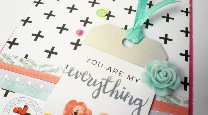 Xyron – card with tiny paper scraps