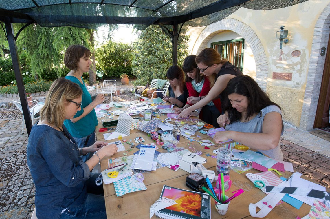 Mini album class @ Il Canapaio + video tutorial