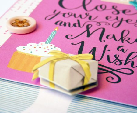 Close your eyes and make a wish – card for my mum