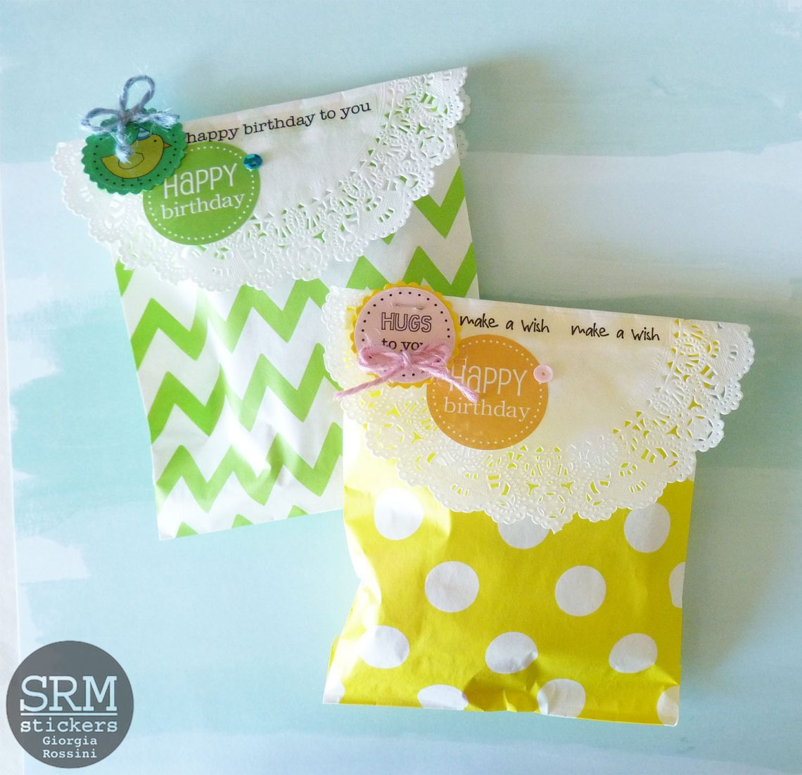 SRM stickers – patterned birthday gifts bags