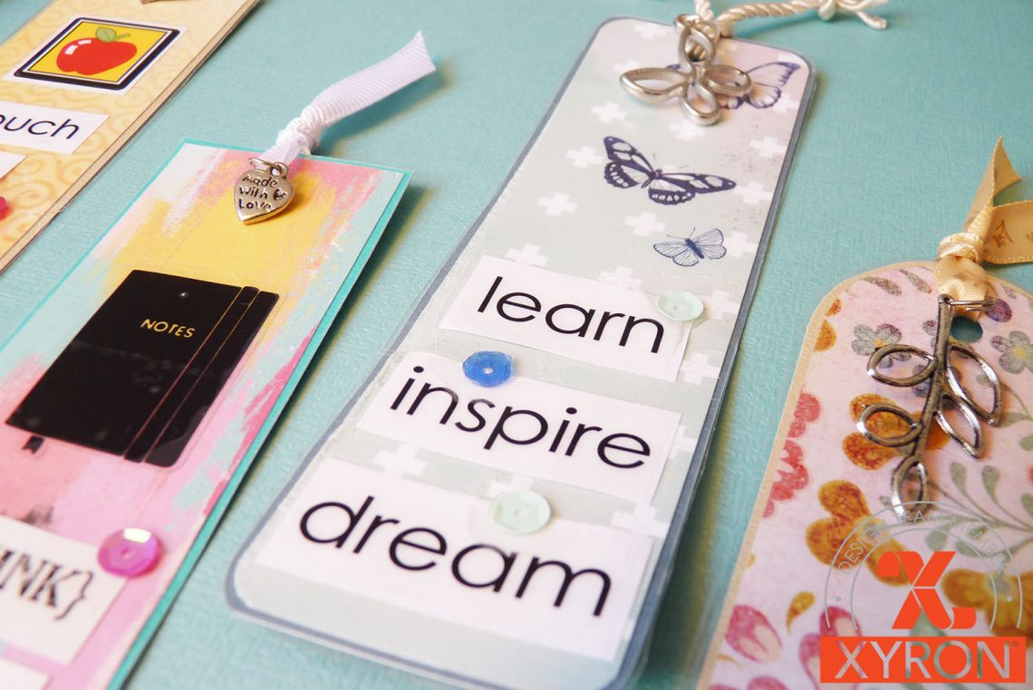 Xyron – back to school week | diy bookmarks