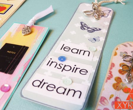 Xyron – back to school week: diy bookmarks