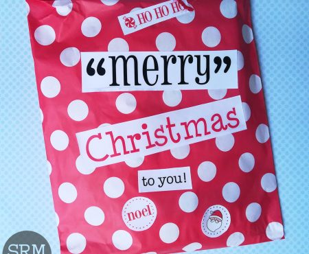 SRM stickers – patterned Christmas gift bag