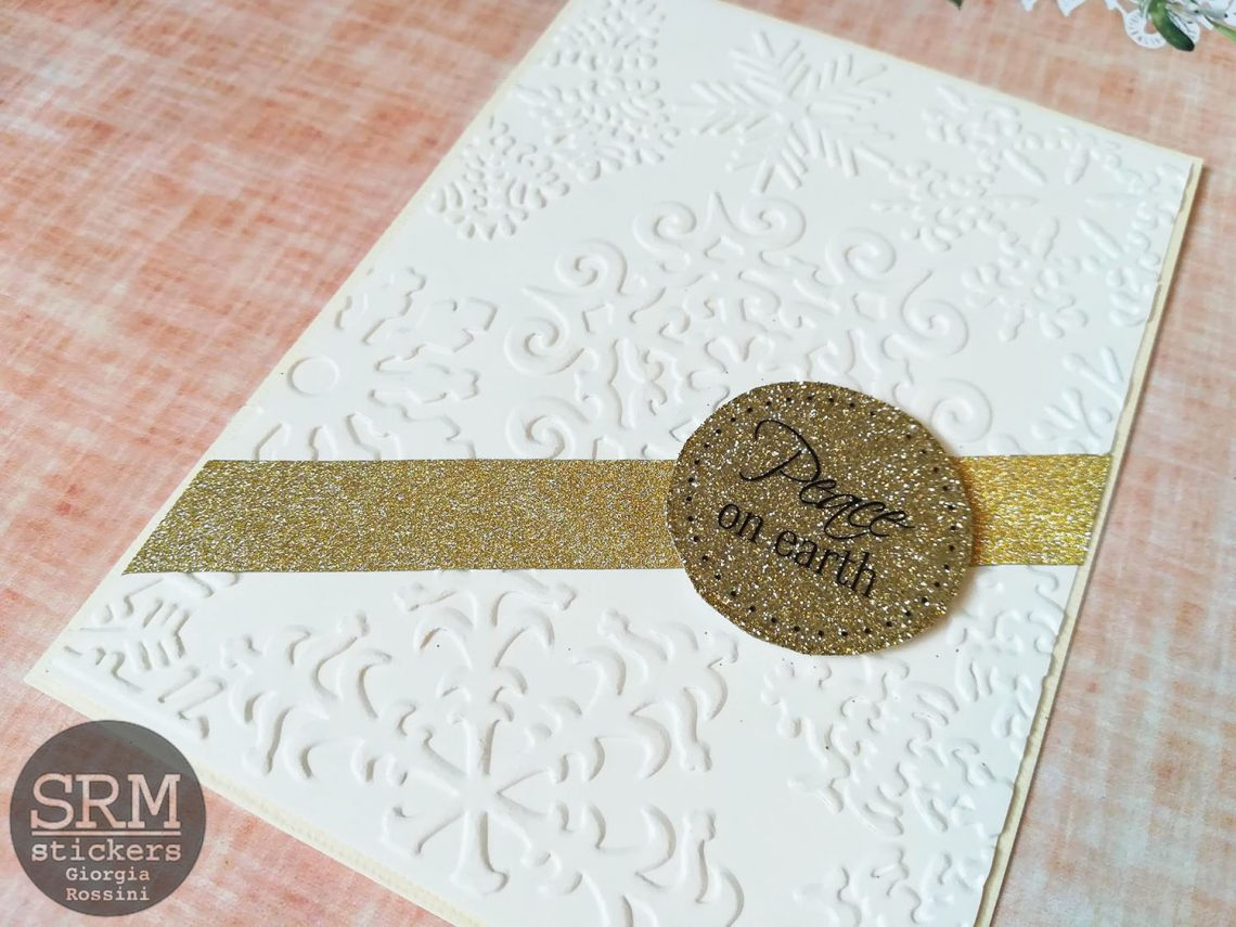 SRM stickers – CAS embossed Christmas card