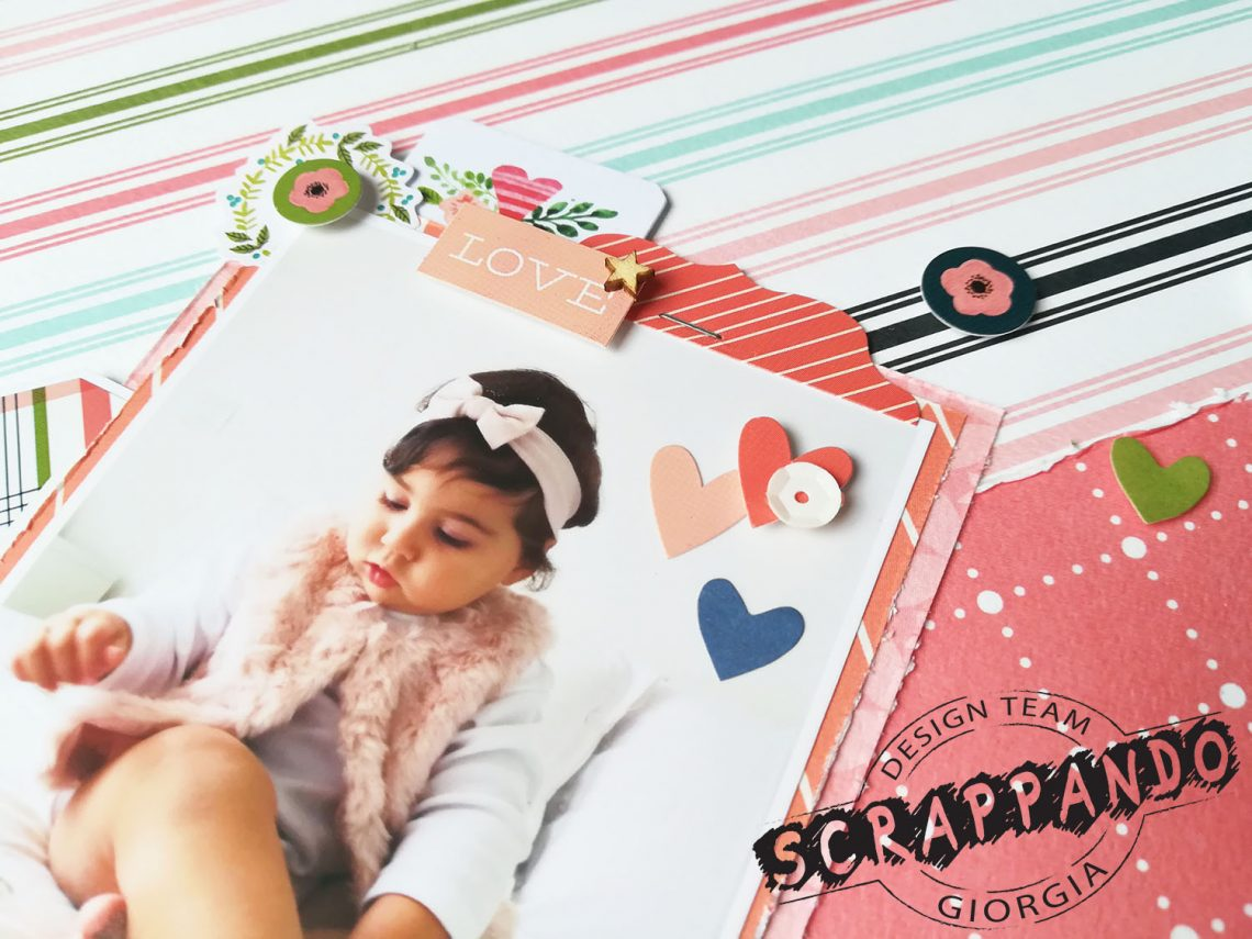 Scrappando – baby girl layout