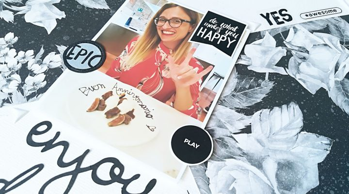 Enjoy today – black&white layout