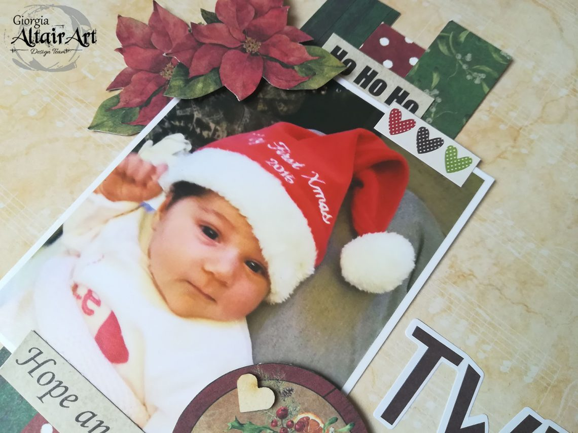 AltairArt – baby's first Christmas layout