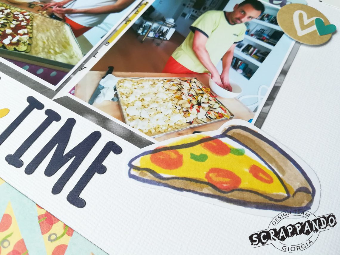 Scrappando – Pizza time layout