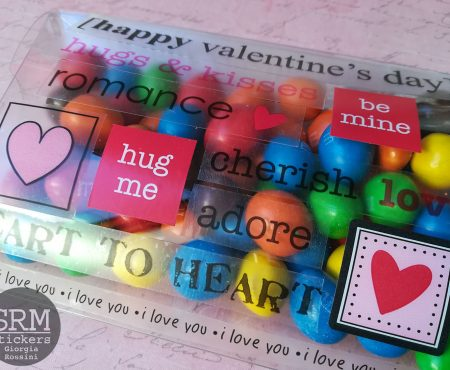 SRM stickers – clear boxes for Valentine gifts