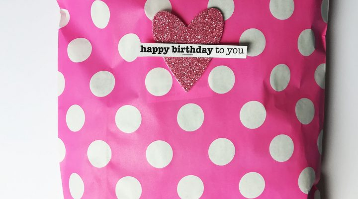 Pretty birthday packages with SRM products
