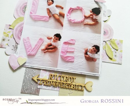 ScrapMir – layout with Daddy's Princess collection