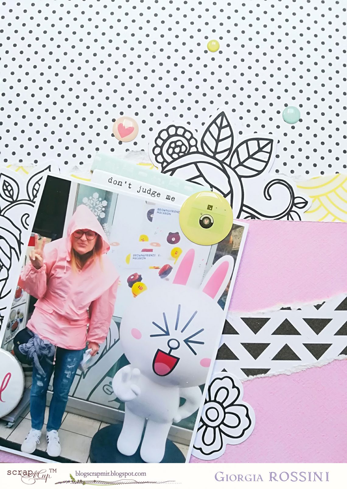 ScrapMir – hey silly girl layout