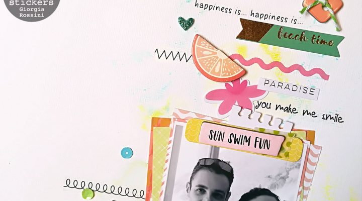 SRM stickers – layout background with borders and stiches stickers