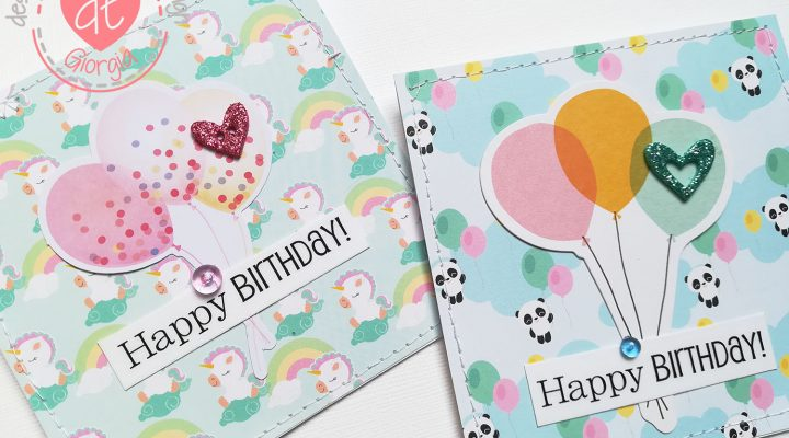 Flavir Design – birthday cards for baby twins tutorial