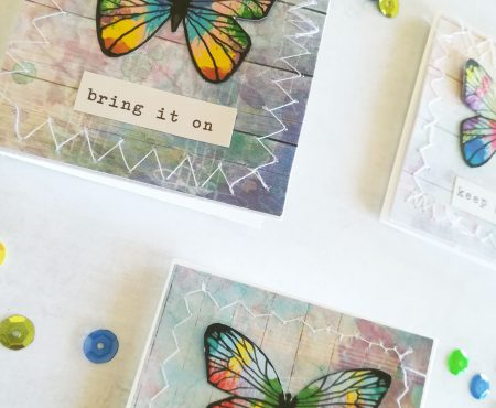 AltairArt – tutorial: spring mini cards