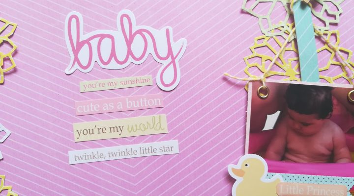 ScrapMir – baby girl layout tutorial