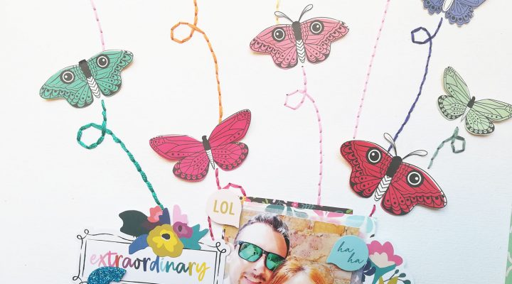 Guest Designer for Café Creativo |layout tutorial with fussy cutting and hand stitching