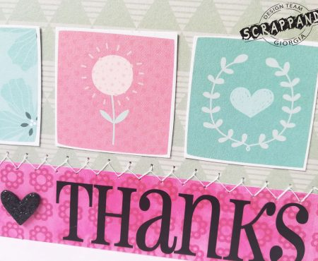Scrappando – Thank you card
