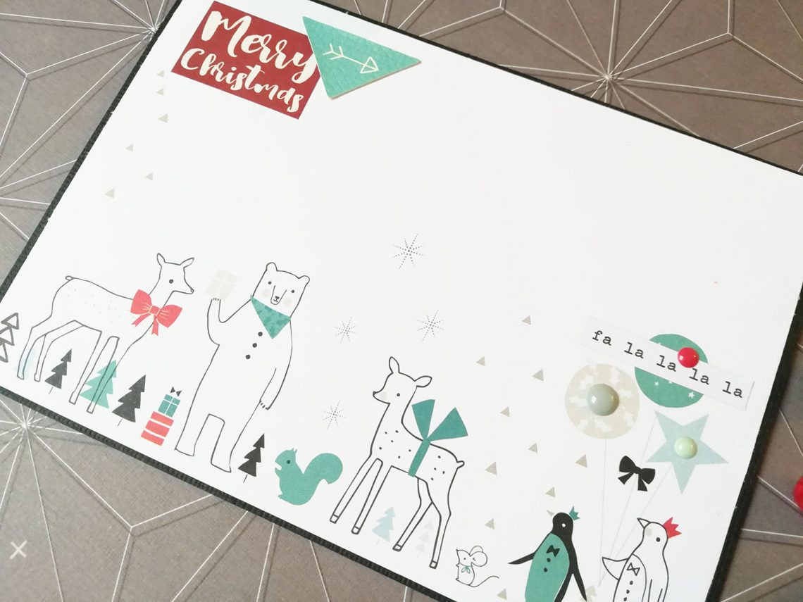 Scrappando – Merry Christmas card