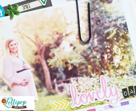 Lollipop Box Club – layout with January kit