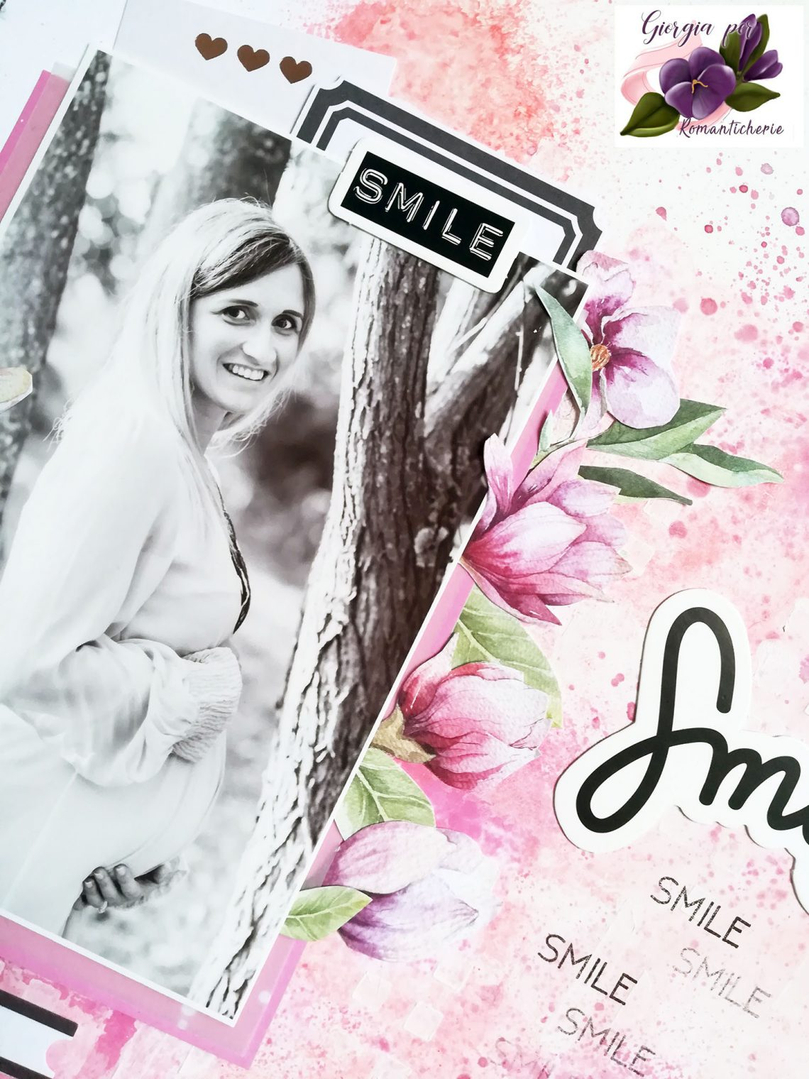 Romanticherie – mixed media layout tutorial