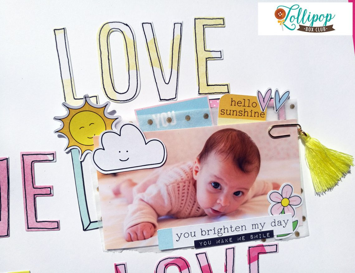 Lollipop Box Club – layout with April kit