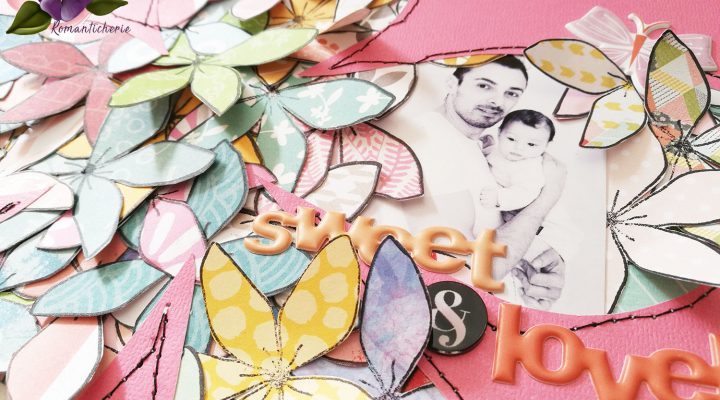 Romanticherie – fussy cut stamps layout tutorial