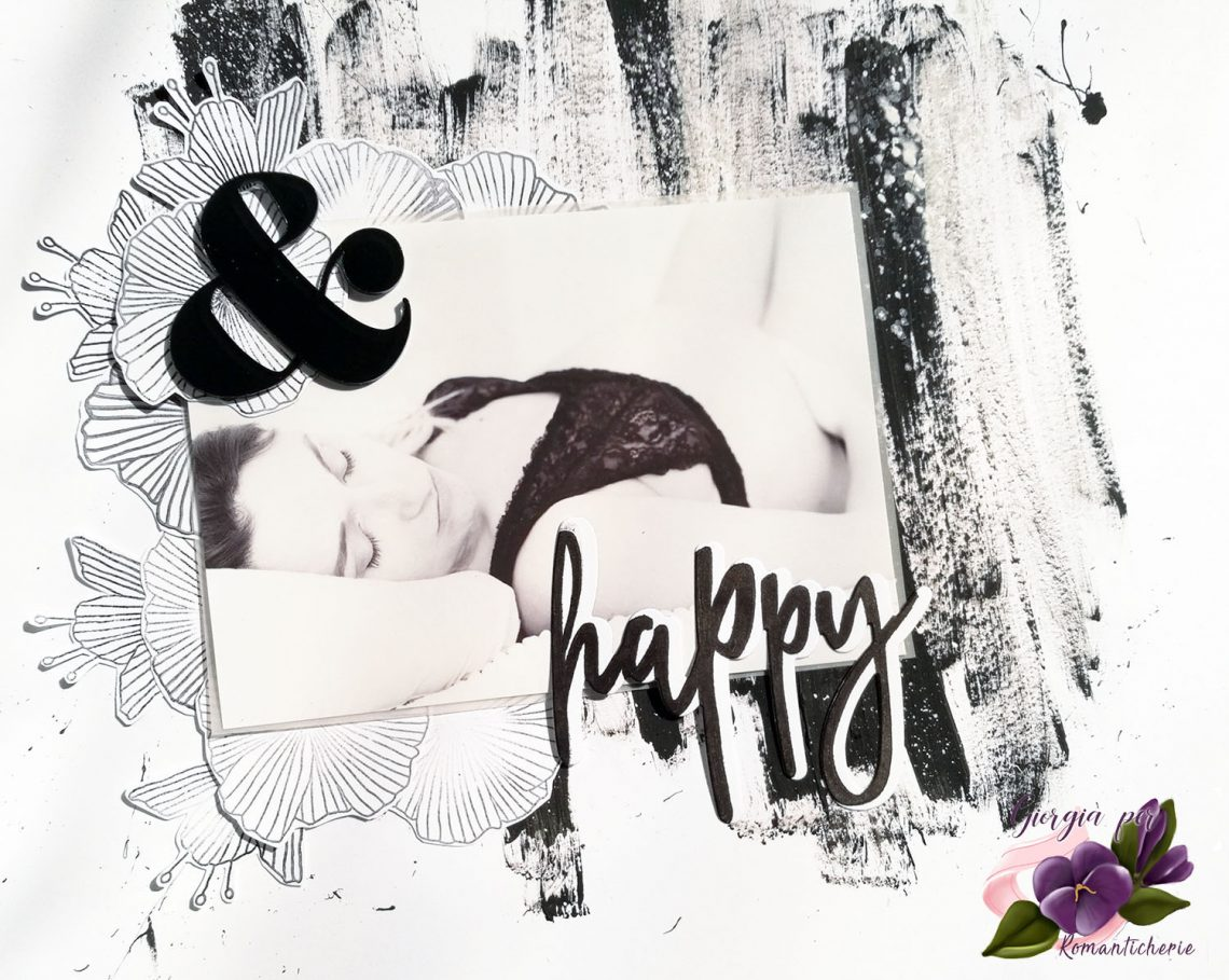 Romanticherie – Black & White layout tutorial