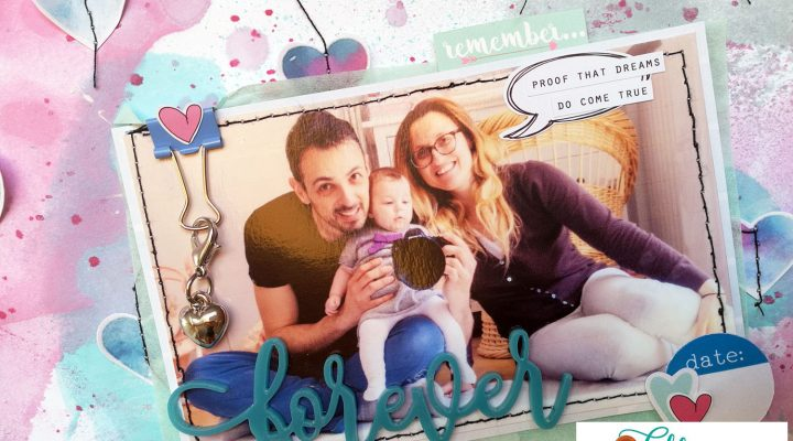 Lollipop Box Club – layout with August kit