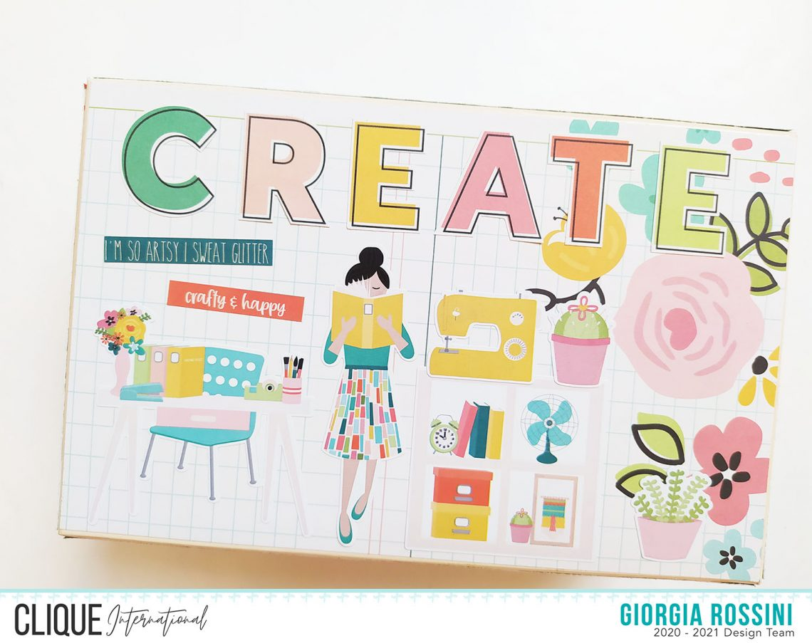 Clique International – altered box for my craft room