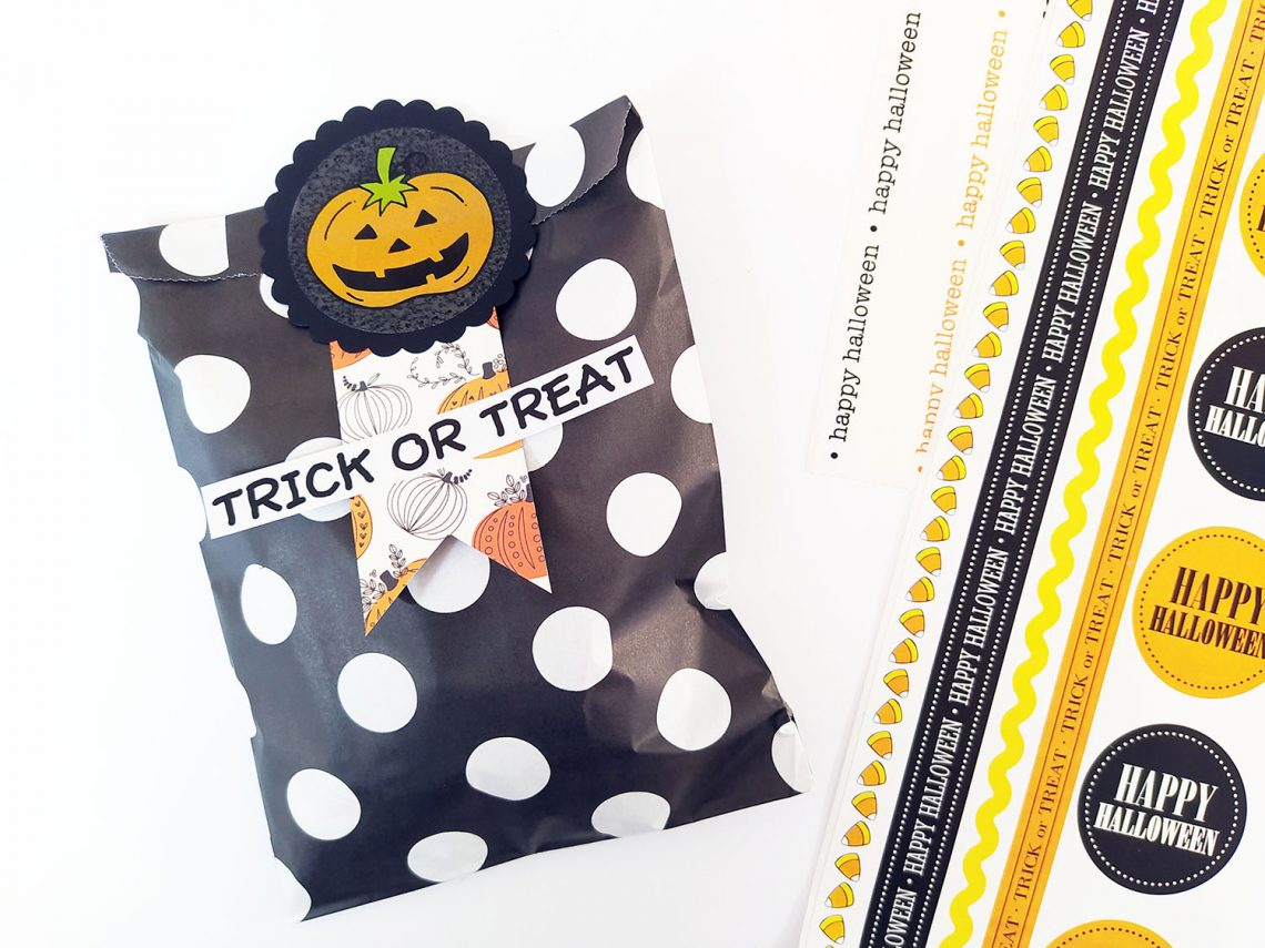 Halloween decorated paper bag