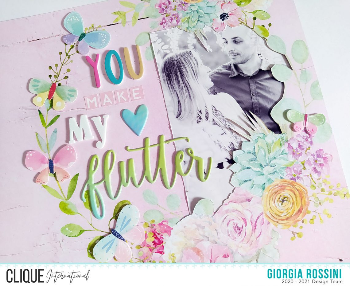 Clique International – You make my heart flutter layout