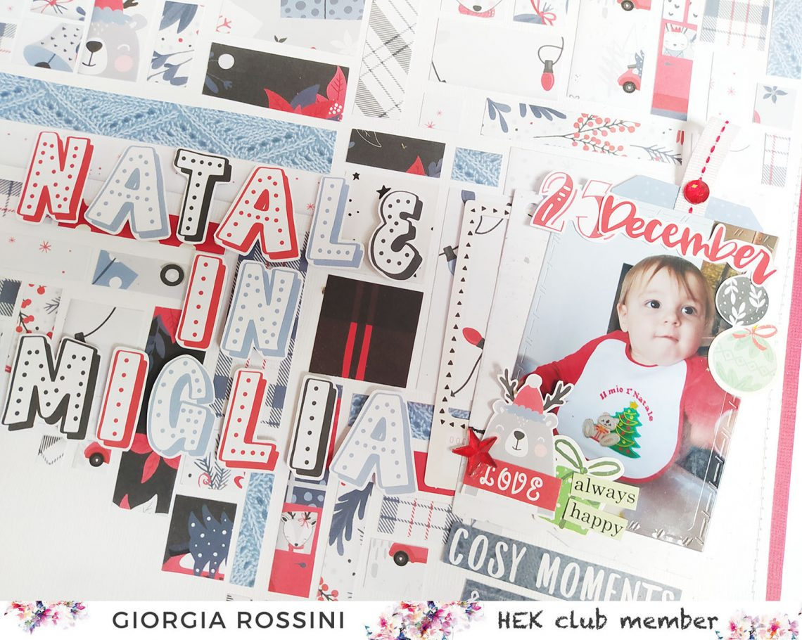 HEK Club – Patterned papers heart layout