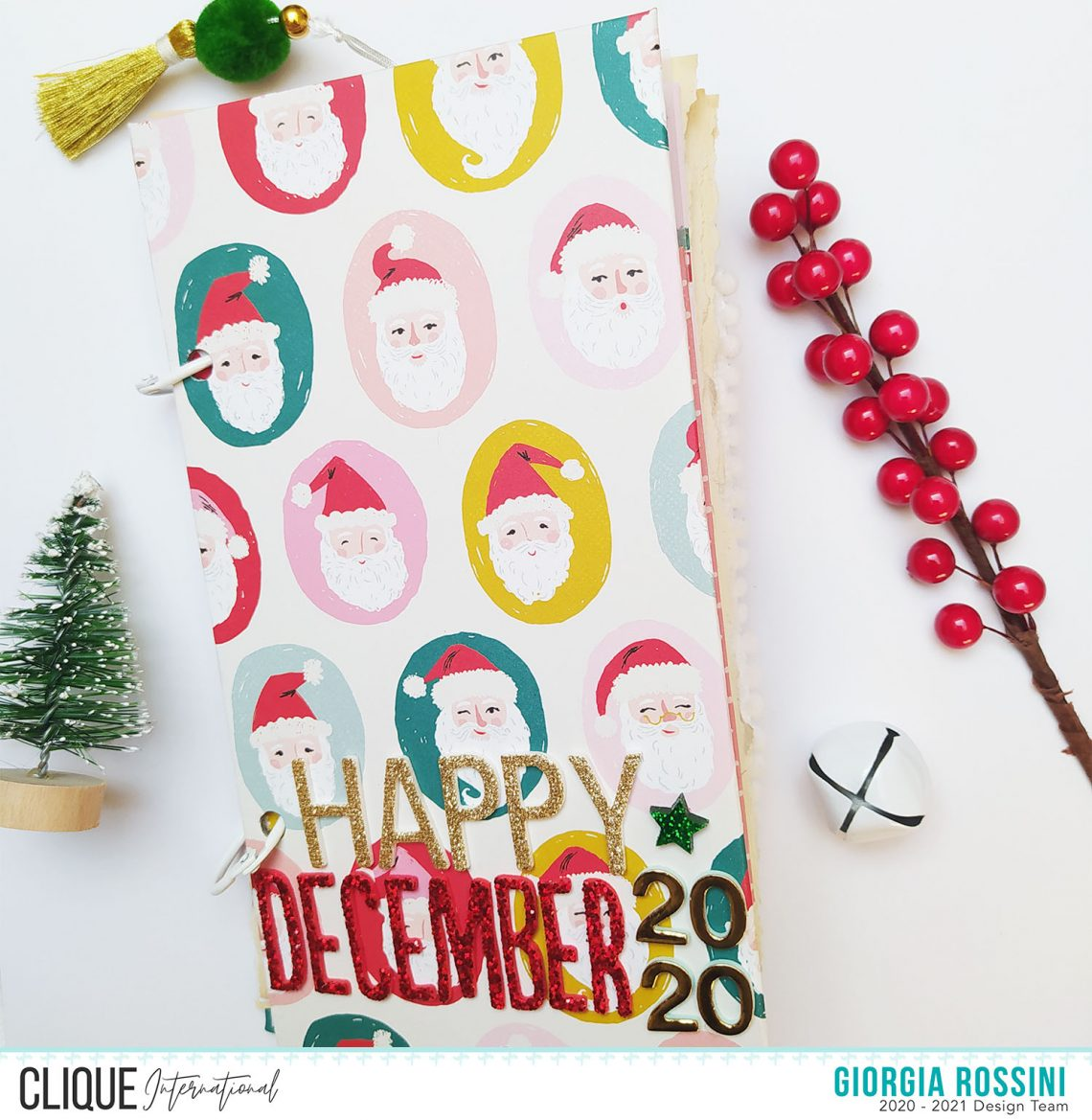 Clique International – My second December Daily setup and few pages