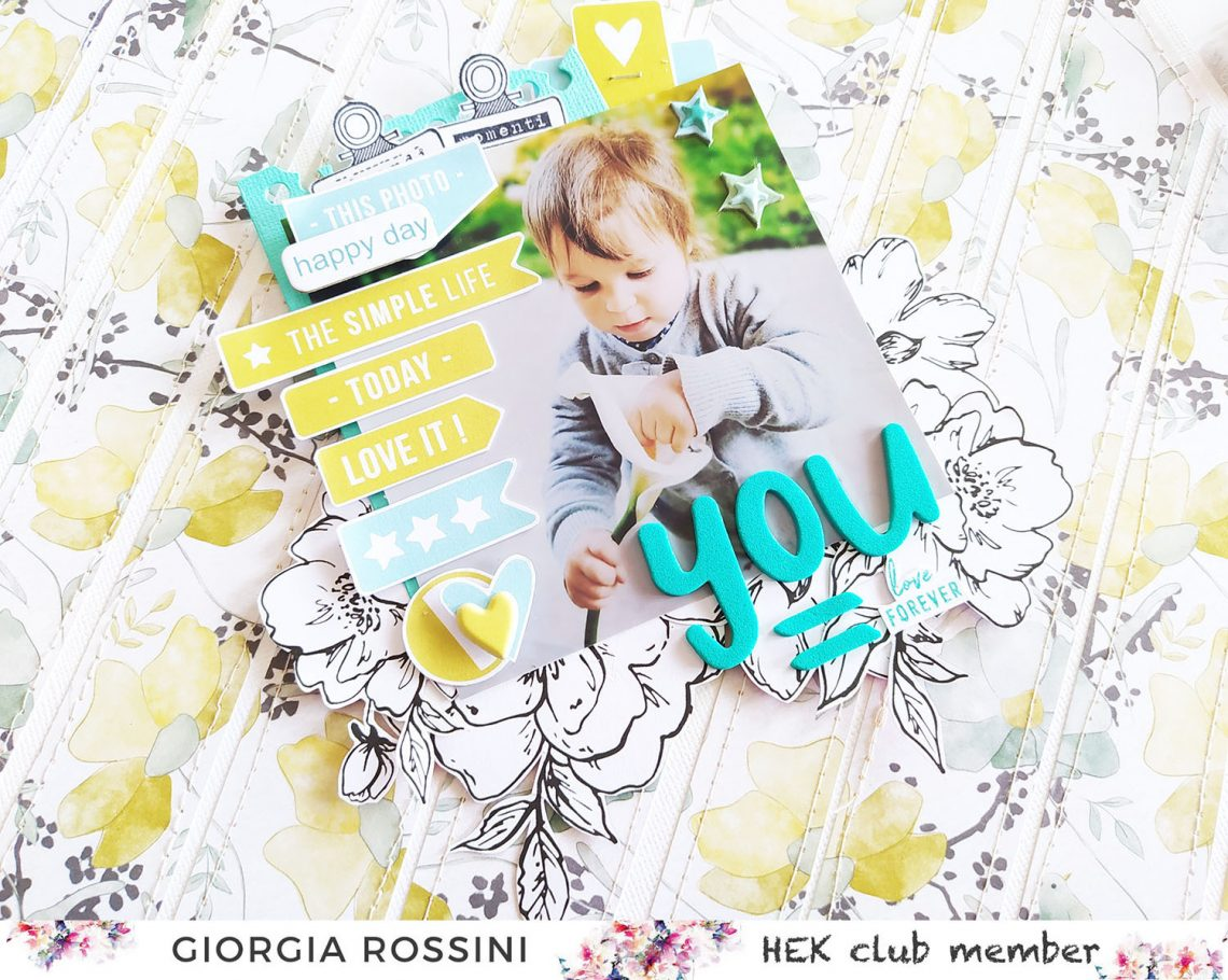 "HEK Club – layout ""YOU= love forever"""