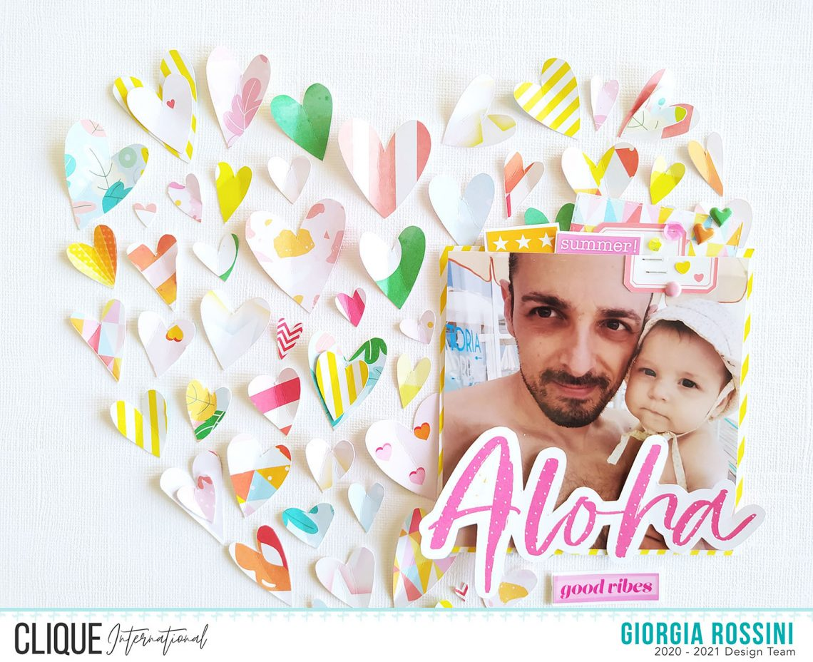 """Clique International – Pinterest please: """"a heart made of hearts"""" layout"""