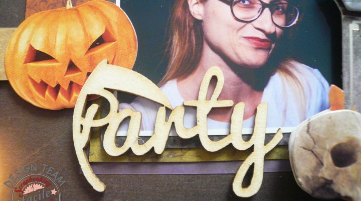 Scrapbooking Facile – Halloween Party layout