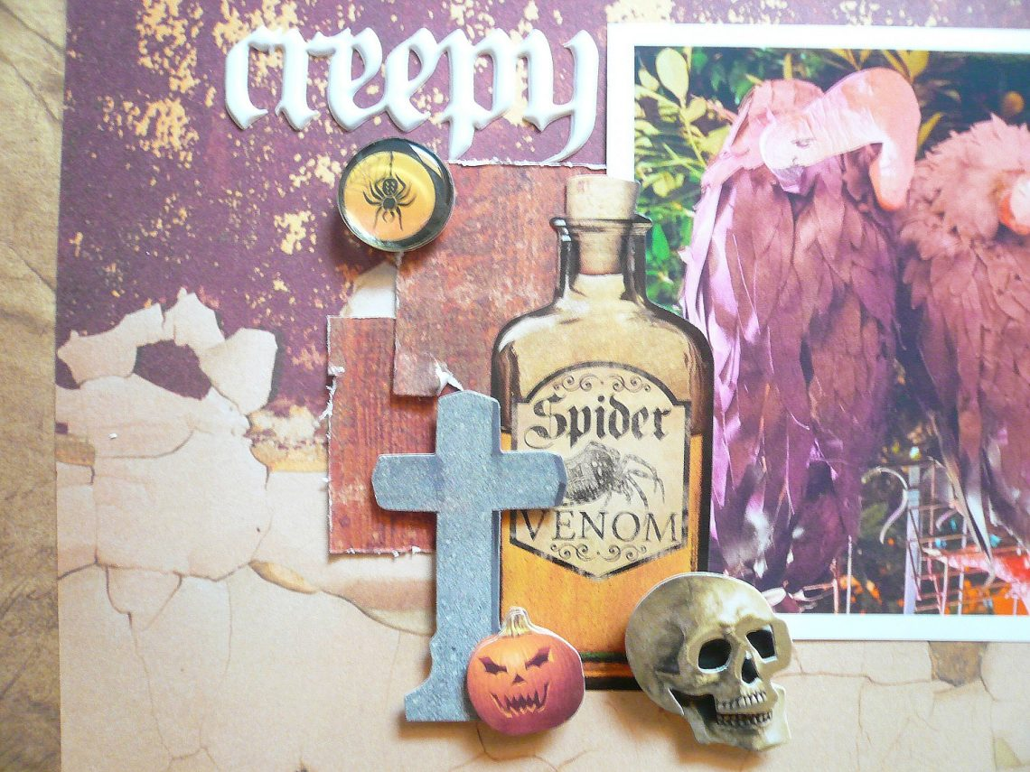 Creepy Halloween layout