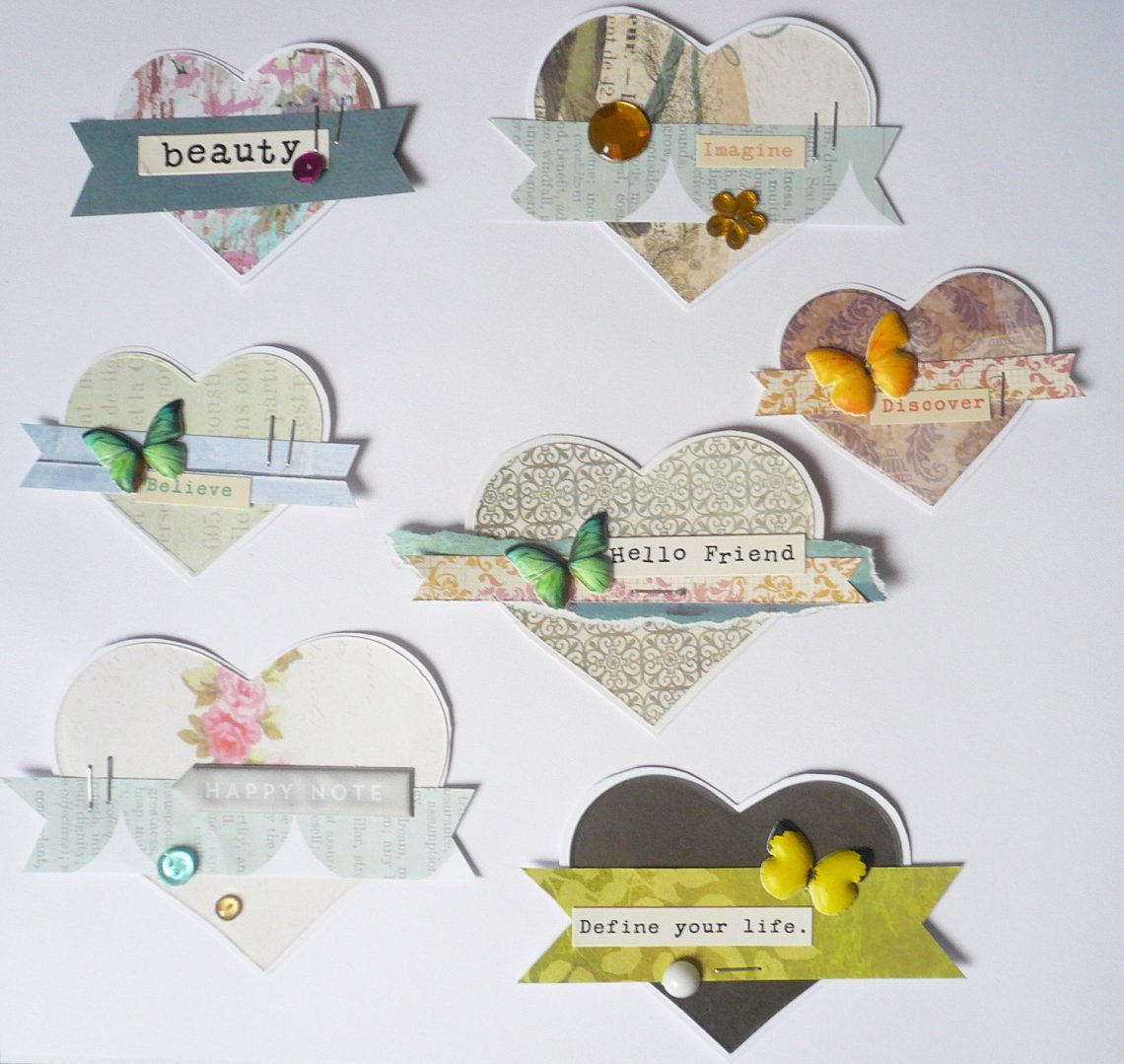 Use up your scraps! Embellishments DIY and a card