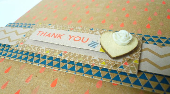 Docrafts – Geometric Kraft card