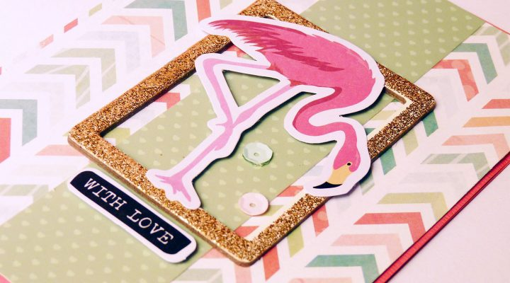 Crea il tuo Kit con Angela & Giorgia – another flamingo card with June kit