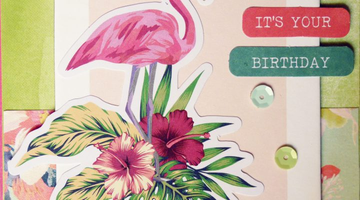 Crea il tuo Kit con Angela & Giorgia – flamingo card with June kit