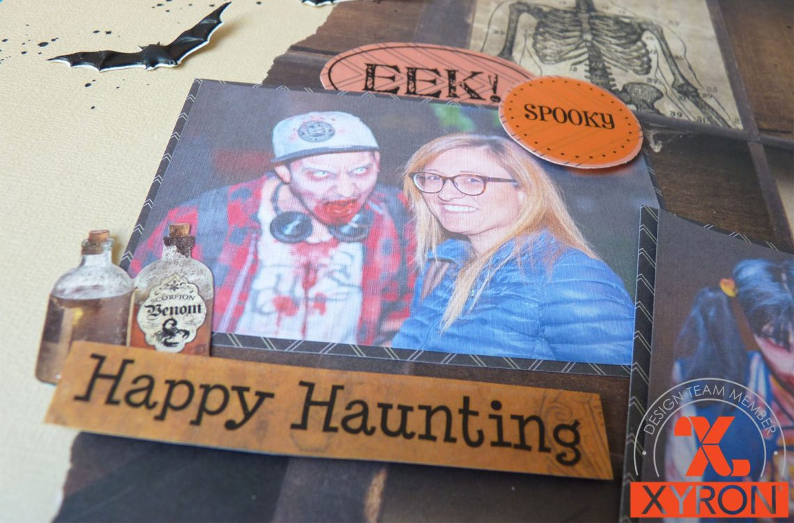 Xyron – Halloween week|happy haunting layout