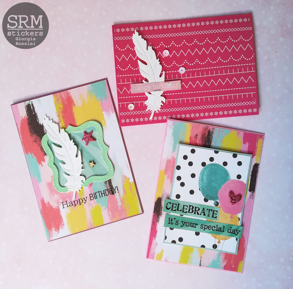 SRM stickers – Birthday cards set