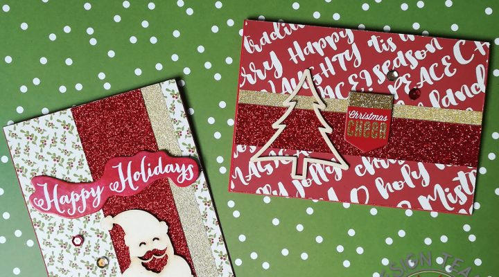 Scrapbooking Facile – glitter Christmas cards
